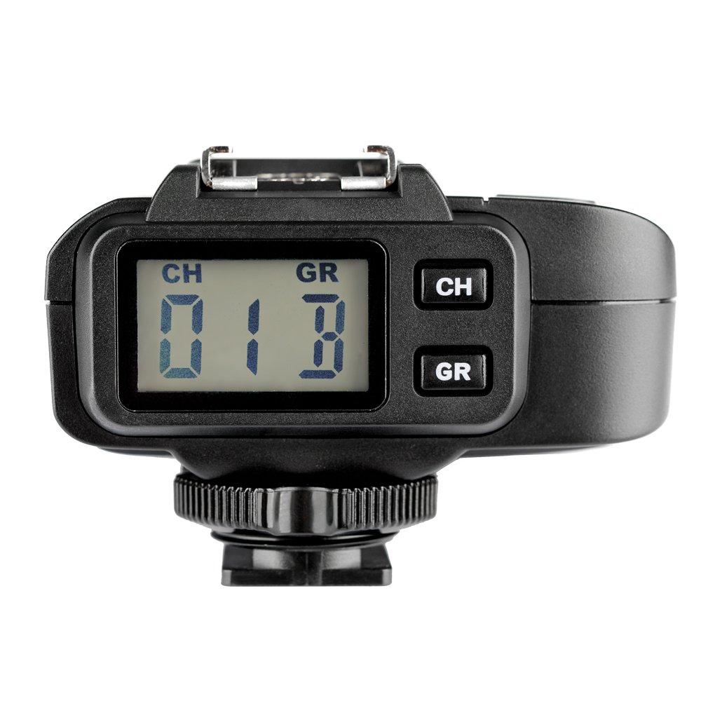 Godox x1r-n 2.4/G transmisor receptor inal/ámbrico para disparador de x1/N Nikon c/ámara r/éflex digital D800/D3/X D3/D2/X D2H D1H D1/X D700/D300/D200/D100