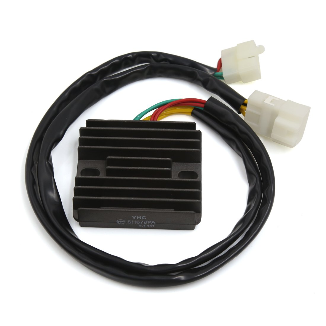 uxcell Aluminum Alloy Voltage Regulator Rectifier Black by uxcell