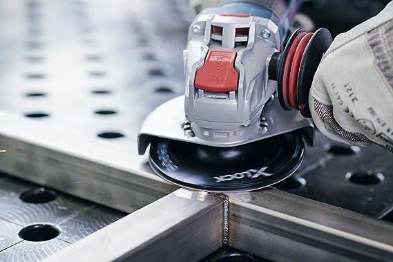 Bosch Professional 2608619174 Disques Abrasifs sur Fibres  Expert for Metal pour les M/étaux, X-LOCK, R444, /Ø/125/mm, Grain 80, Al/ésage/: 22,23/mm