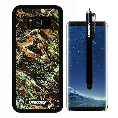 Galaxy S8 Plus Case, Dark Green Rings Marble Texture Case, OkSoBuy Ultra Thin Soft Silicone Case for Samsung Galaxy S8 Plus - Dark Green Rings Marble Texture (Green Violet Olive)