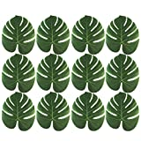 Funnytoday365 Artificial Faux Tropical Palm Leaves Table Placemat Christmas Hawaii Party Decor