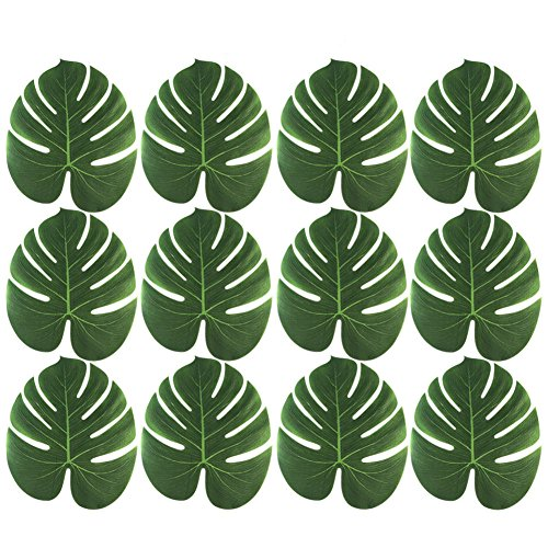 Funnytoday365 Artificial Faux Tropical Palm Leaves Table Placemat Christmas Hawaii Party Decor by FunnyToday365