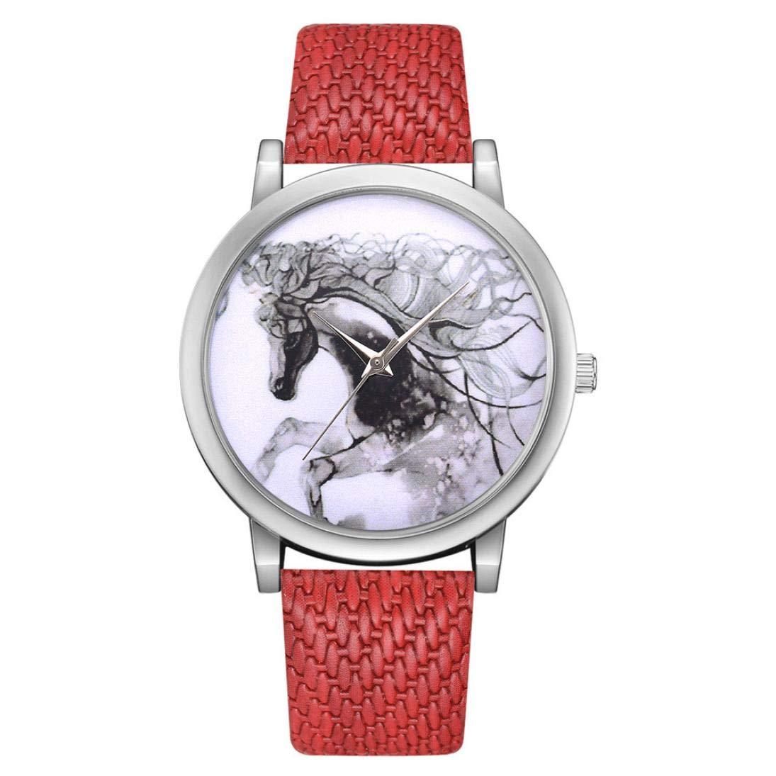 Axiba Woman Fashion Leather Band Analog Quartz Round Wrist Watch Watches Dress Wrist Watch,Sport Watch,Casual Watch,Bracelet Watch (I)