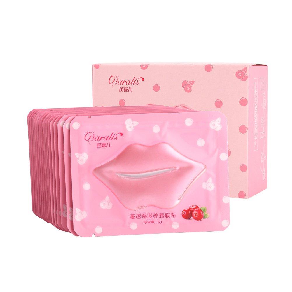 20pcs Cranberry Lip Masque Cristal Naturel Collagène Beauté Exfoliant Humide Hydratant Brrnoo