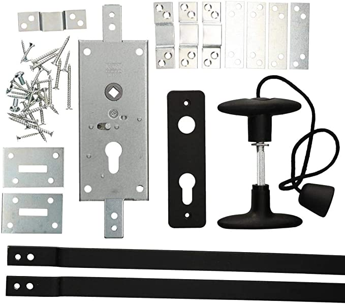 Aufschraubschloss Kastenriegelschloss f/ür Profilzylinder inklusive Rossette PZ