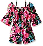 Kensie Big Girls' Printed Rayon Off The Shoulder Romper