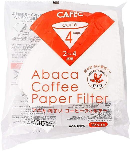 cafec 100-Pack 2 en forma de cono para filtro de cafetera de goteo ...