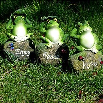 CoolPlus Frog Garden Decor Statue, Outdoor Patio Ornaments, Yard  Decorations Art Figurines, Perfect