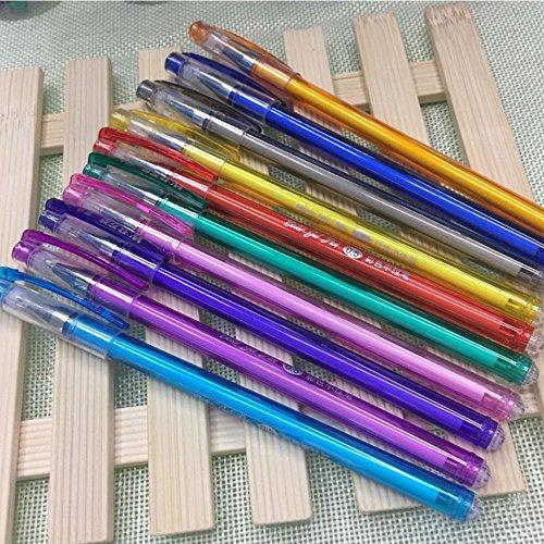 Bluesky 10Pcs 0.5 mm Tips Gel Pens Painting Writing in 10 Individual - 0.5 Mm Gel Pen