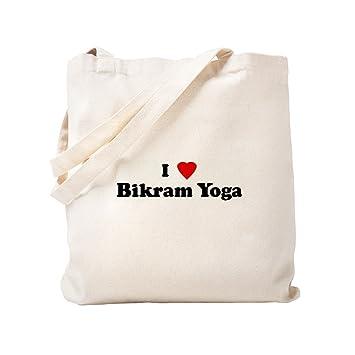 Amazon.com: CafePress - I Love Bikram Yoga - Natural Canvas ...