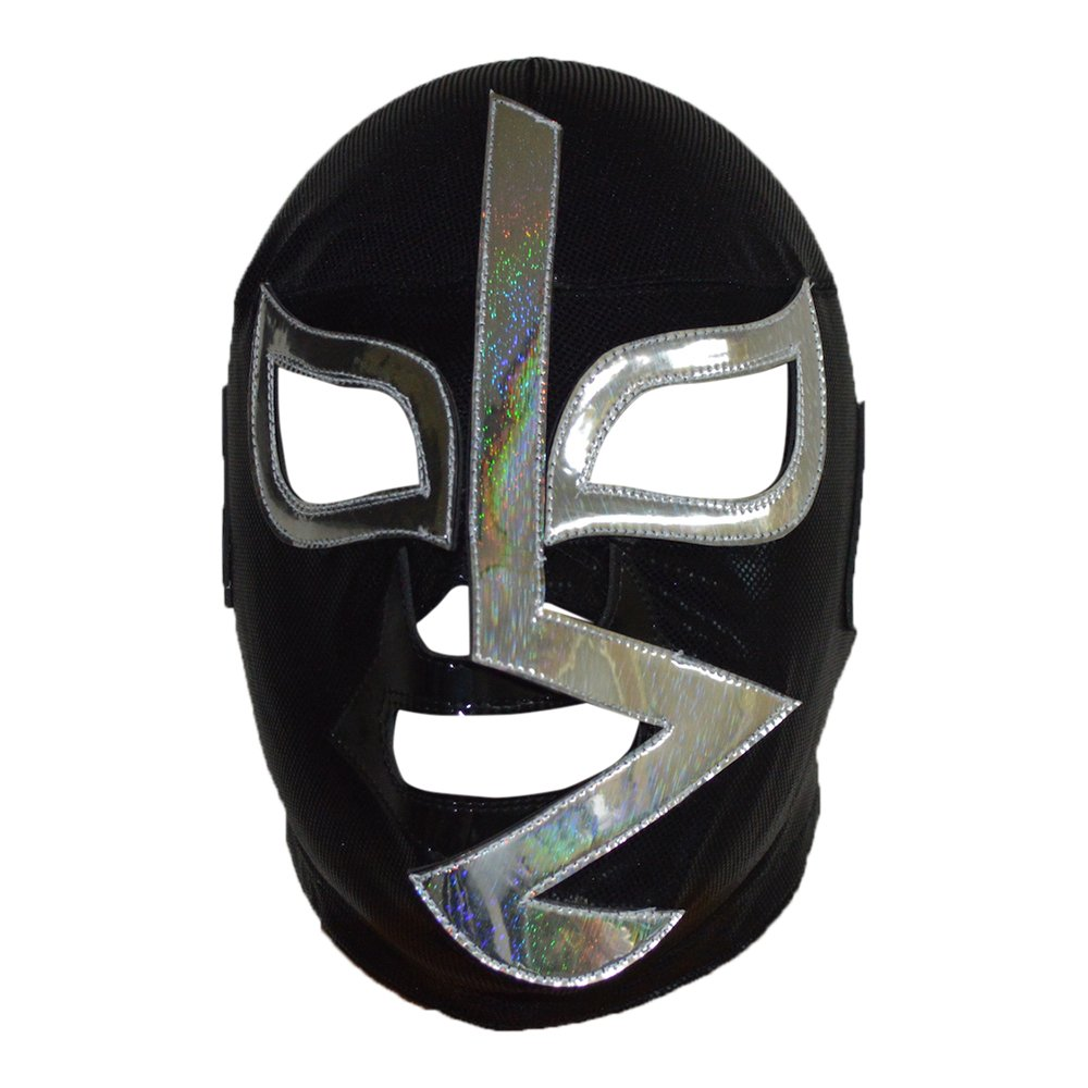 Deportes Martinez Rayo de Jalisco Semi-Professional Lucha Libre Wrestling Mask Adult Luchador Mask Black Costume Wear Pro