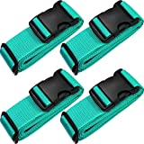 TRANVERS Universal Luggage Strap For Suitcase 16~32'' With ID Function 4-Pack Lake Blue