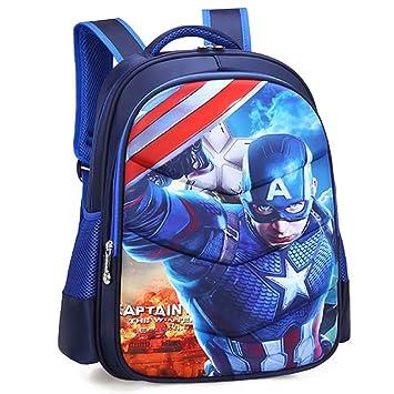 Iron Man Spiderman Captain America Childrens School Backpack Lightweight Teens Backpacks For Boys And Girls School