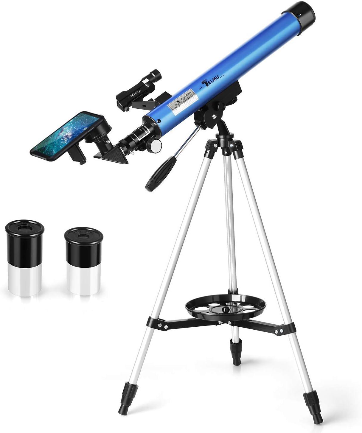 Telmu Telescopio portátil – 30X y 48X, con trípode retráctil, Visor de Puntos Rojos, Adaptador de Smartphone, rotación de 360 Grados, Apto para Principiantes Aficionados: Amazon.es: Electrónica