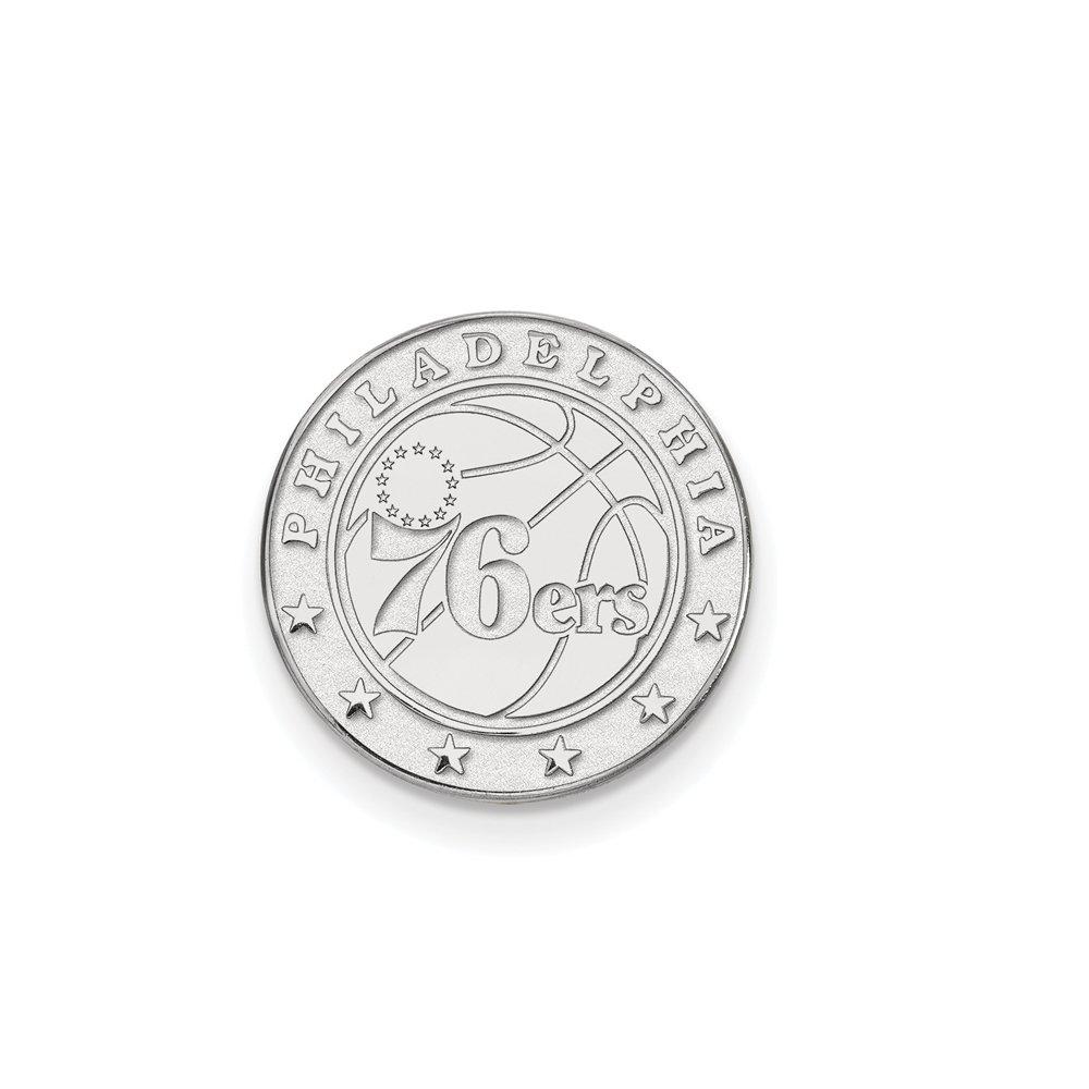 NBA Philadelphia 76ers Lapel Pin in 14K White Gold by LogoArt