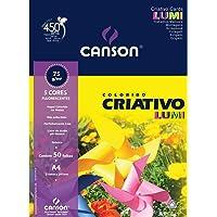 Papel Colorido Criativo Lumi 75 g/m² A-4 21,0 x 29,7 cm com 50 Folhas Canson
