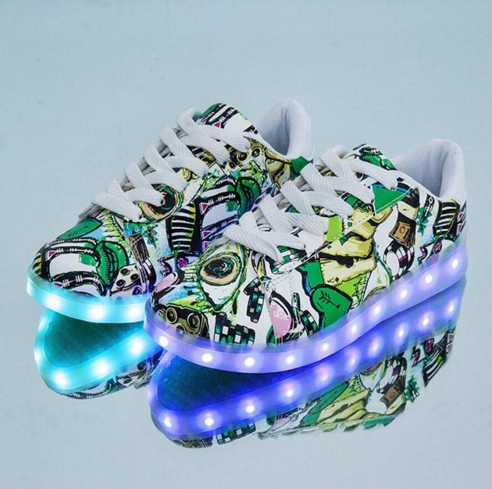 Amazon.com  MHC Women s Shoes PU(Polyurethane) Spring Light up Shoes  Sneakers Flat Heel Round Toe LED Shoes Black Green  Garden   Outdoor af90b55fd