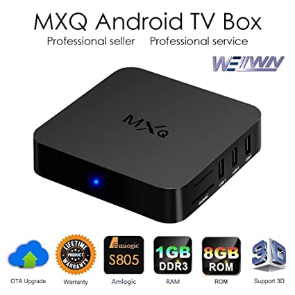 Amazon com: MXQ TV BOX Android 4 4 Amlogic S805 Quad Core