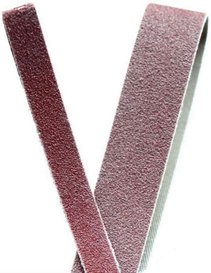 TGACD Sand Belt Alumina Abrasive Cloth Ring Belt 10pcs Red Deburring Grinding Wheel Flap Disc Hardware Rust Removal Polishing Polisher Tools,80 40