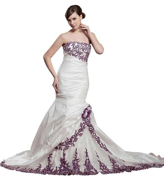 George Bride perlas Aplicaciones Capilla croma sirena vestido de boda Vestidos de novia Vestidos de Boda