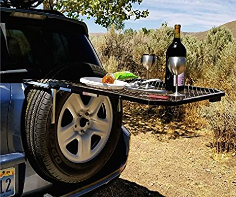 Pleasant Tailgater Tire Table Vehicle Tire Mounted Steel Camping Home Remodeling Inspirations Basidirectenergyitoicom