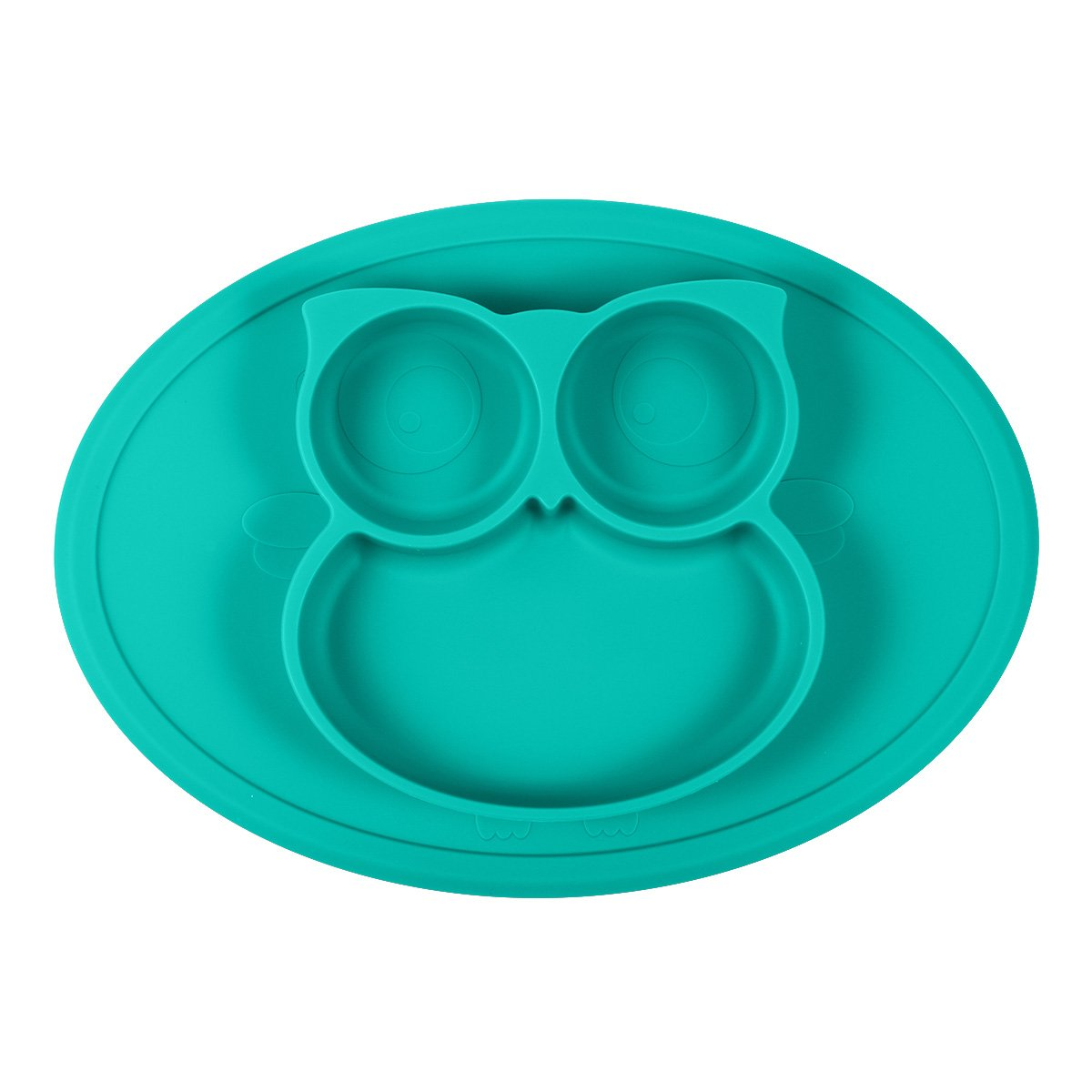 Silicone Mini Placemat - Baby Plate - Toddler Feeding Mat by Hanfeng- Strong Suction Base - Portable - 100% Food Grade Silicone - Fits Most highchairs, Microwave and Dishwasher Safe (Green)