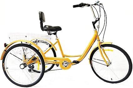 Triciclo adulto Amarillo 24