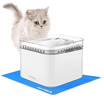 Amazon.com: Fuente de agua eléctrica automática para gatos y ...