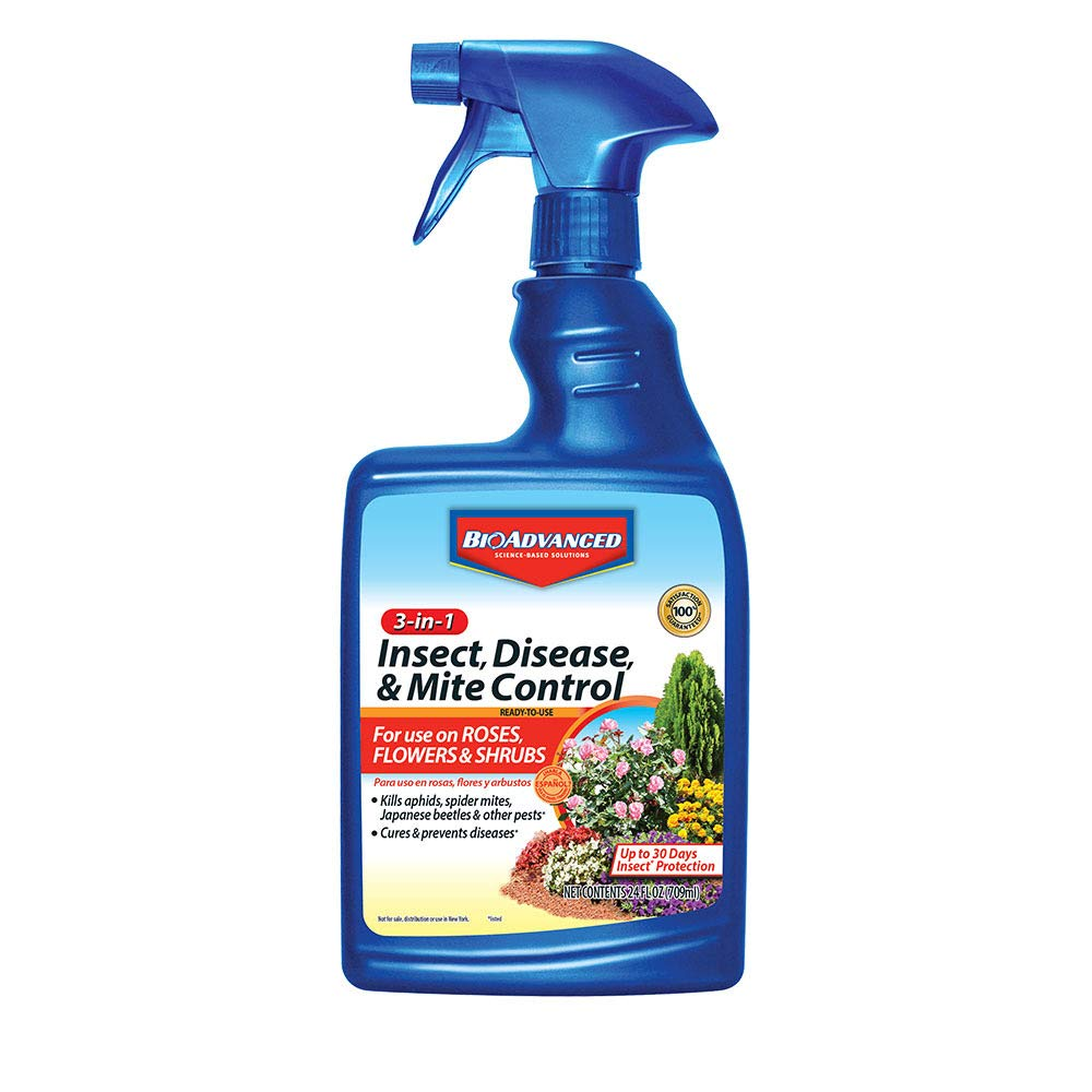 BioAdvanced 701290B Insecticide Fungicide Miticide 3-in-1 Insect, Disease & Mite Control, 24 oz