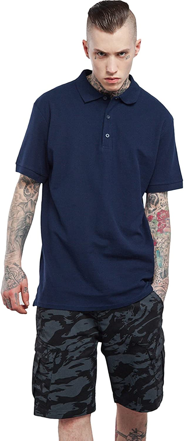 Casual Polo Shirts Collared Short Sleeve Tee for Men by FlyHawk