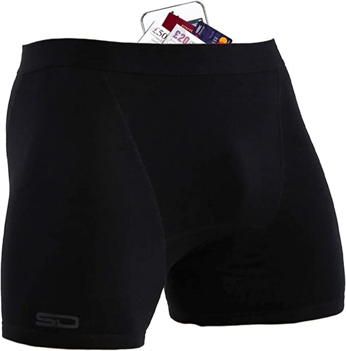 TALLA XS. Smuggling Duds Men's Stash Boxer Brief Shorts - Pickpocket Proof Travel Secret Pocket Underwear