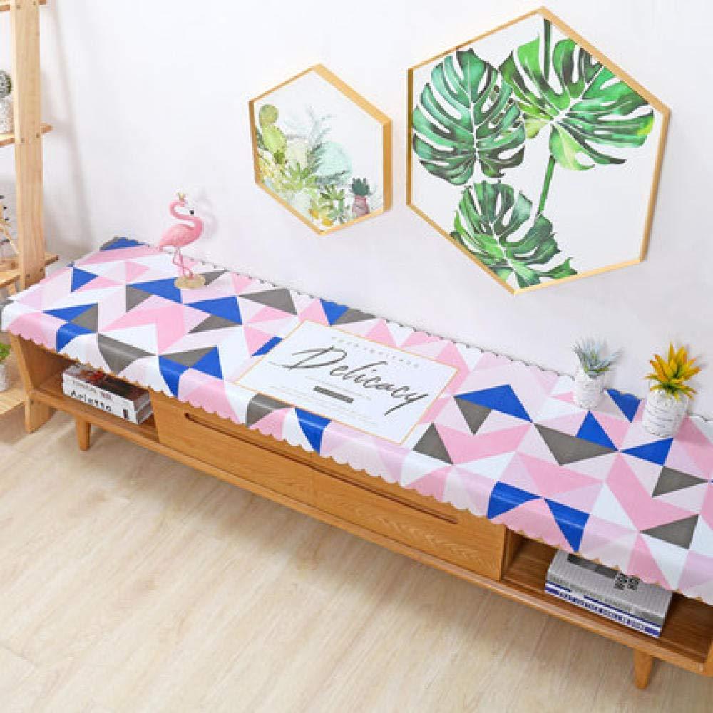 WJJYTX tischdecke Plastik, Square Wipe Clean Tischdecke Vinyl PVC TV Schrankabdeckung Wohnzimmer Dreieck @ 40 * 120