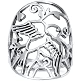 Princess Kylie 925 Sterling Silver Star Stencil Ring