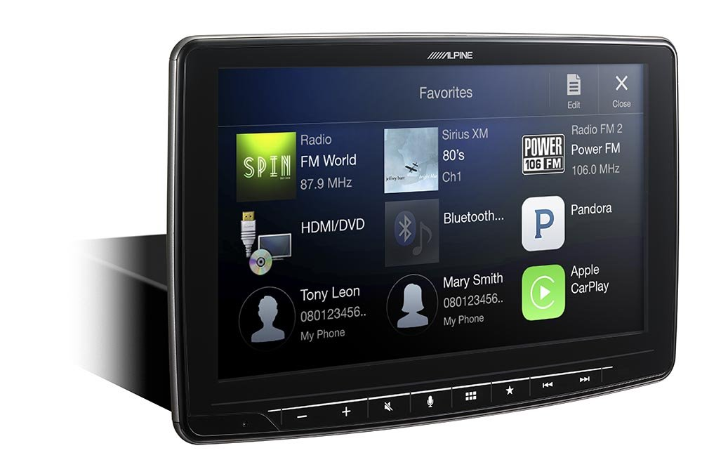 Alpine iLX-F309 HALO9 9'' AM/FM/audio/video Receiver w/ 9-inch Touch Screen and Mech-less Design - Single-DIN Mounting by Alpine (Image #1)