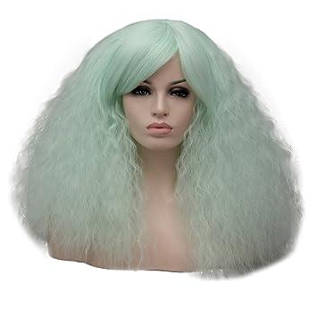 18 Corta lockig Lolita Fashion Harajuku Cosplay Hair Full Wig Peluca