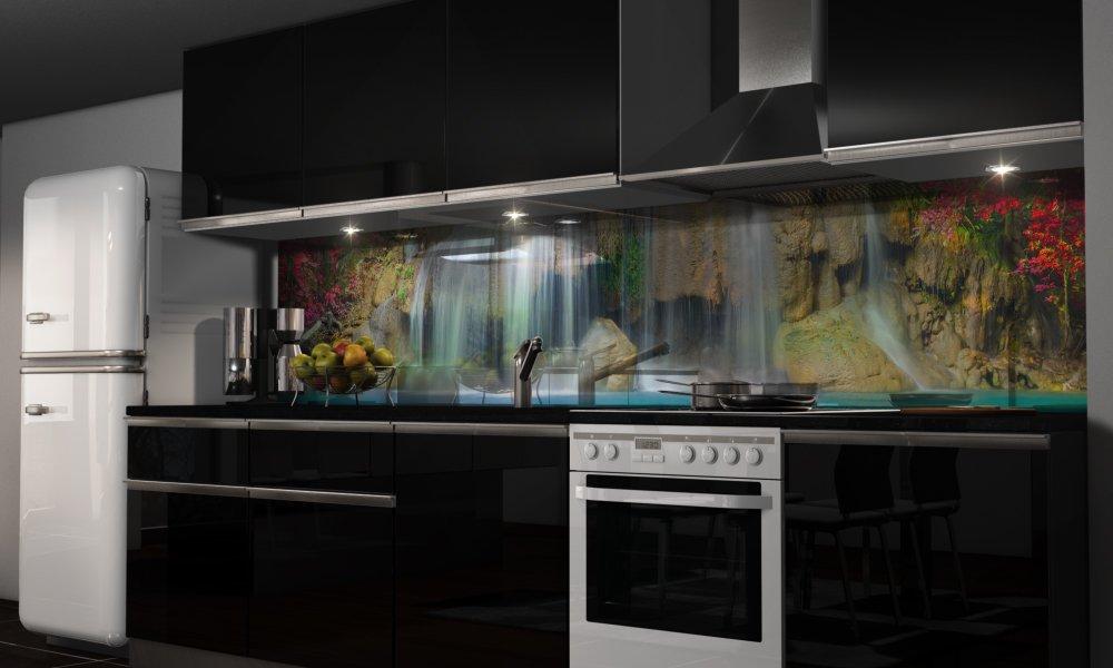 "Küchenrückwand Folie Selbstklebend ""Wasserfall"" Klebefolie"