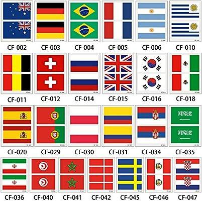 HXMAN 3 Mesa Copa Mundial Bandera Tatuaje Pegatina Temporal Brasil ...