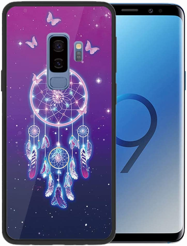 Felfy Kompatibel mit Galaxy S9 Plus H/ülle,Kompatibel mit Galaxy S9 Plus Handyh/ülle Geh/ärtetes Glas Back Case Bunt Muster Schutzh/ülle Weich TPU Silikon Edge /& Glas Hart Case Kratzfest H/üllen Cover