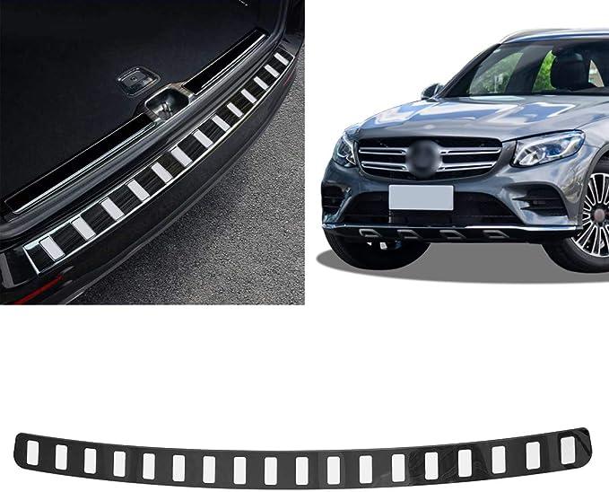 Cstern Edelstahl Ladekantenschutz Mit Abkantung Für Benz Klasse Glc X253 C253 2016 2019 Anti Kratz Heckstoßstangenschutz Schutzleiste Auto