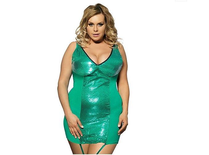 SJMM Pijama de para Mujer Ropa Lencería sexy ropa de cama Camisón tentación,M,