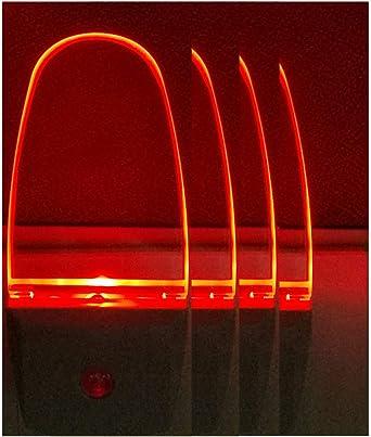 Amazon.com: Enchufe de luz LED de noche lámpara 4 Pack con ...