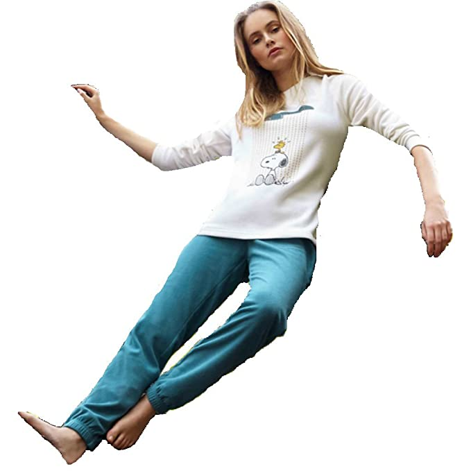 Pijama Micropolar SNOOPY Mujer GISELA Blanco (M)