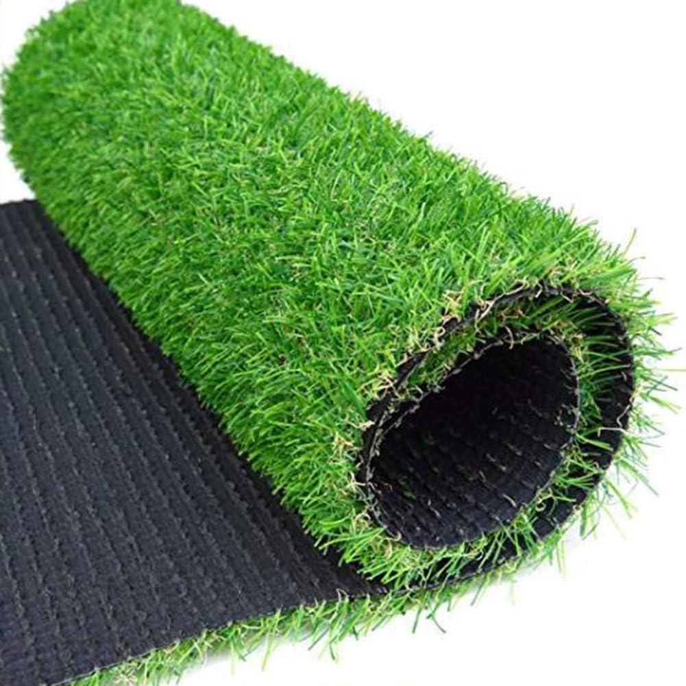 合成 人工芝の芝,高密度 偽の草 屋外 ペットターフ 排水の穴 テラスのため バルコニー じゃない-スリップ ターフマット-グリーン 200x450cm(79x177inch)