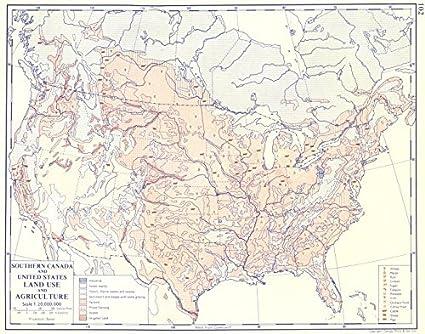 Amazon.com: USA. Southern Canada and United States; Land use ...