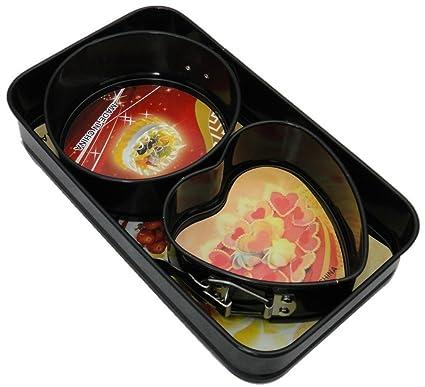 EOZY – Molde para pan Set Spring forma corazón molde redondo rectángulo Moldes Cake Mould