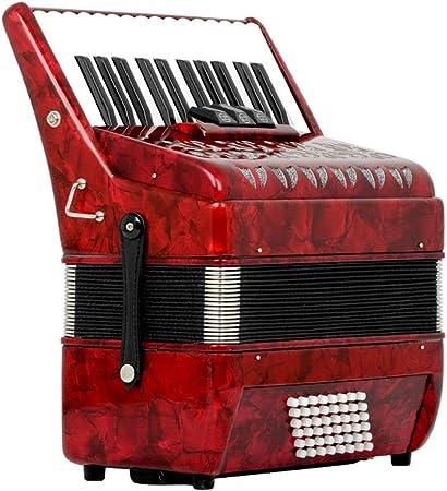 M-zutx 26 teclas 48 Bajo rojo Tres hileras Acordeones for ...