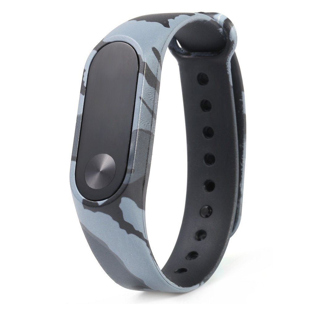 FTXJ Wristbands for XIAOMI MI Band 2, Camouflage Pattern Strap WristBand Bracelet Replacement For Xiaomi MI Band 2 (Gray, 23.50 x 1.80 x 1.00 cm)