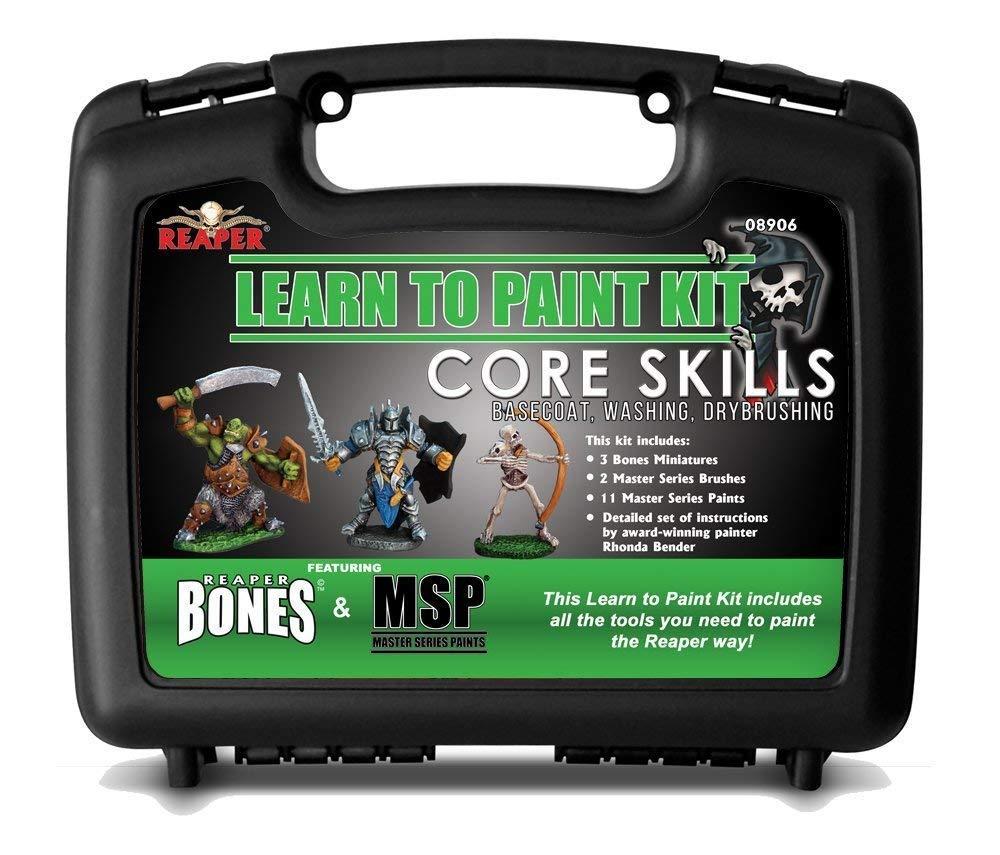 Reaper Miniatures 08906 Learn To Paint Bones Kit by Reaper