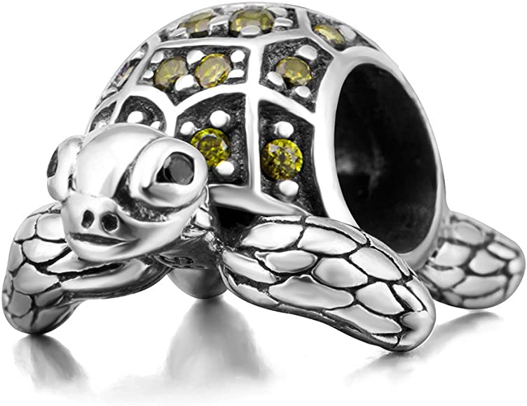 50 pcs antiqued silver retro Two-Sided Nice sea turtle Spacer Beads Diy hot sell