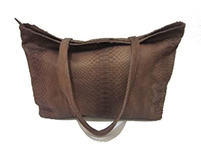 Image Unavailable. Image not available for. Color  Python real bag Genuine  full Leather Snake ... 767becfcd6